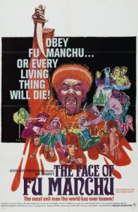 Poster for 1965 film The Face of Fu Manchu (from Wikipedia)