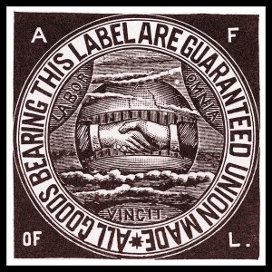 American Federation of Labor union label, circa 1900.