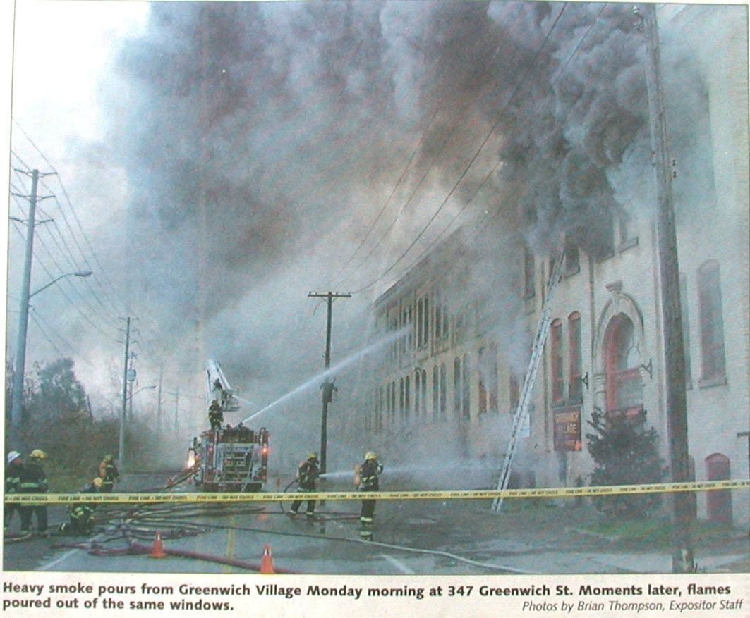347 Greenwich, Verity Bld fire photo1, Nov 4, 2002