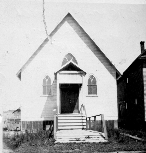 St. Mary's Lutheran Church, circa 1910.  Sault Ste Marie Public Library Archives