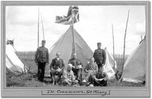 George MacMartin, seated, centre, at Fort Albany, 1905