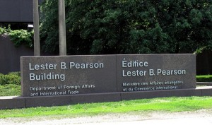 "Lester B. Pearson Building, Ottawa. Photo: ""Ottawa Canada May 2010 – Sussex Drive East 21"" by Douglas Sprott. Flickr Creative Commons."