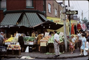 The market full of life in the early 1970s. Source: Ellis Wiley/City of Toronto Archives.