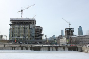 Three of the District Griffin's towers under construction