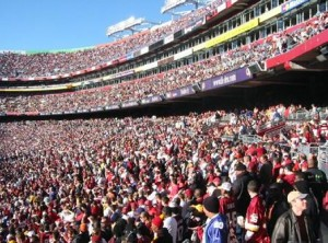 Fans at FedEx Field in October 2003. Source: Wikipedia.