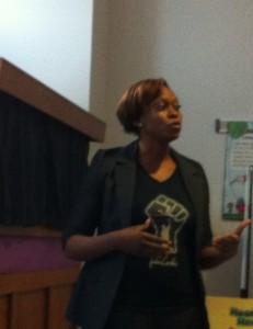 Funké Aladejebi speaking during her History Matters talk