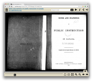 Checking out a 1857 book from the Internet Archive, no big deal.