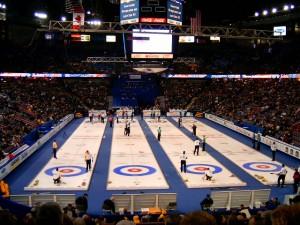 Tim Hortons Brier, Edmonton, Alberta, Canada, 2005. Public Domain.