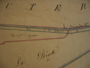 Map 2 – Detail of Cadastre, Martaizé, 1828-29, 4P 999-1005, Archives départementales de la Vienne