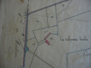 Map 3 – Detail of Cadastre, Martaizé, 1828-29, 4P 999-1005, Archives départementales de la Vienne