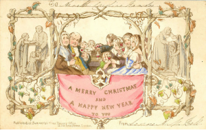 Christmas Card, 1843. From postalheritage.org.uk