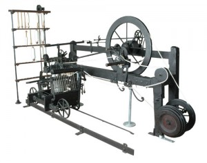 "From Wikipedia ""The introduction of the Spinning Mule into cotton production processes helped to drastically increase industry consumption of cotton. This example is the only one in existence made by the inventor Samuel Crompton. It can be found in the collection of Bolton Museum and Archive Service."" Image by Pezzab."