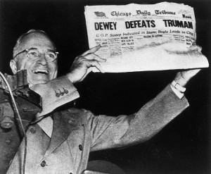 Dewey Defeats Truman?, 1948. Source: Wisconsin Historical Society