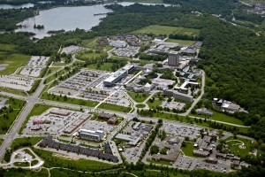 Aerial view of Brock University. Photo via www.brocku.ca
