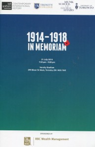 "Cover of the ""In Memoriam"" program"