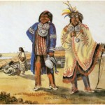 Two Ottawa Chiefs come down from Michilimackinac to visit the President (LAC C14384)