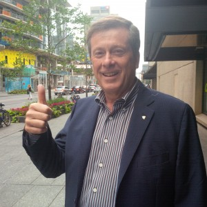 John Tory, Bloor Street, Toronto July 2014, (photo by James Cullingham)