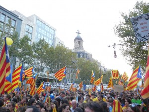 Supporters of independence, 2012. Photo by Pere prlpz. Source: Wikipedia Commons.