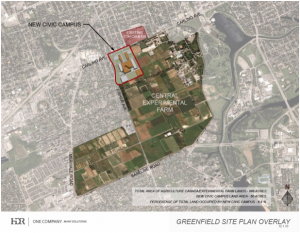 Map from MetroNews' coverage (http://metronews.ca/news/ottawa/1201639/ottawa-hospitals-civic-gets-60-acres-of-farm-land-to-build-new-campus/).