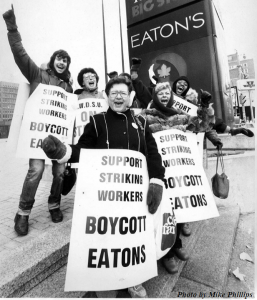 Eaton's Picketline