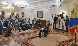 Vladimir Putin answered journalists' questions on the situation in Ukraine (Source: http://eng.kremlin.ru/news/6763)