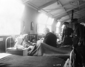 Borden visiting wounded soldiers overseas, March 1917.] [Source: Library and Archives Canada online database, MIKAN no. 3521817