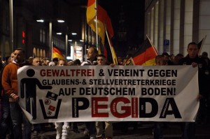 PEGIDA Rally in Dresden, Fall 2014
