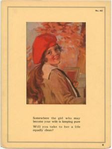 Pure Girl Is Waiting Somewhere Poster. 1922. American Social Health Association