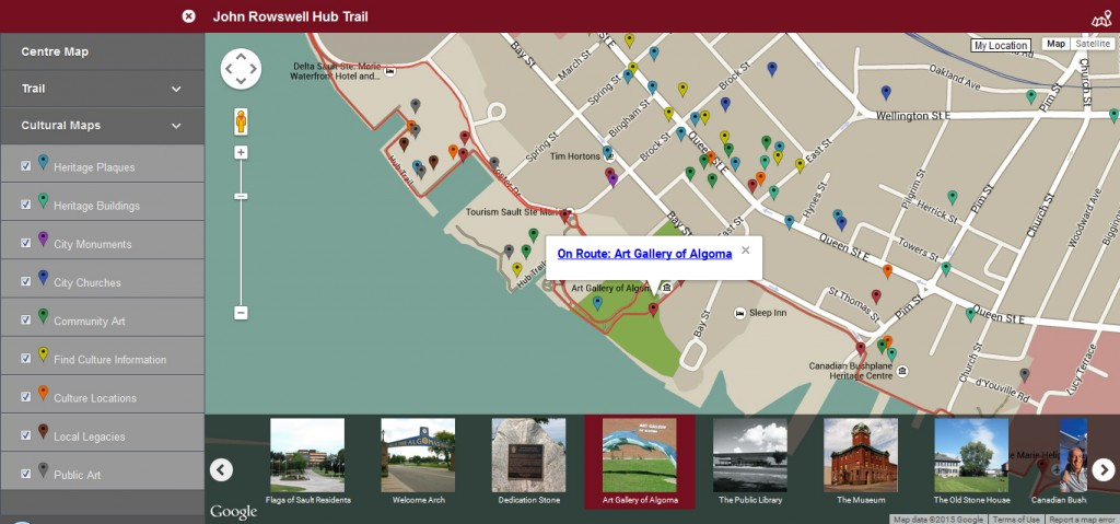 This interactive map allows users to explore the Trail as well as other layers of cultural information. Each location links to its respective page on the web portal. © NORDIK Institute, 2015.