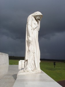 Mother Canada at the Vimy Memorial (Photo by Peter Lucas)