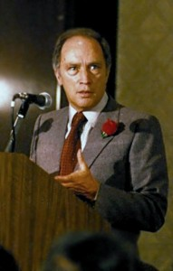 Pierre Elliot Trudeau,  fundraising meeting at the Queen Elizabeth Hotel in Montréal, Québec, 1980.
