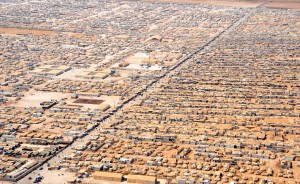 Za'atri refugee camp in Jordan, 2014. Home to 83,000 Syrian refugees. Wikimedia Commons.