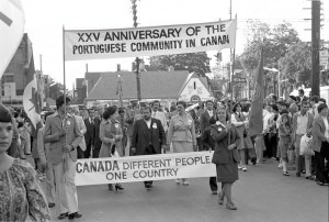 Portugal Day parade, Toronto, 1978. Photo by Gilberto Prioste.