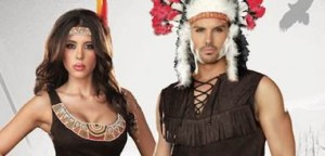 """The other braves thought it was wrong, that the chief was blessed with an arrow so long,"" Chief Long Arrow and Pocahottie, Dreamgirl 2015-2016 Costume Collection Catalogue, p. 14"