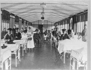 Ontario Military Hospital ward, [ca. 1916-1917] Ontario Military Hospital photographs, F 4386, Archives of Ontario, I0007454
