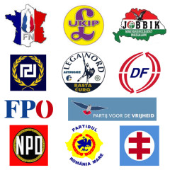 Logos of 11 extreme right parties. leftfutures.org