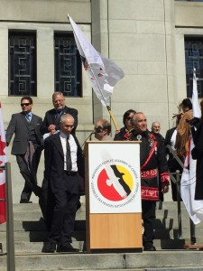 Congress of Aboriginal Peoples press conference following the verdict. CAP photo