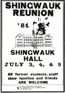 Shingwauk 1981 Reunion poster.