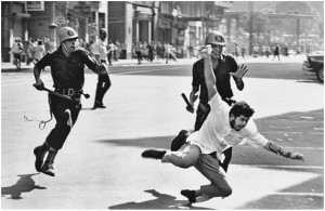 Police repression at a demonstration against the dictatorship, Rio de Janeiro, 1968. Evandro Teixeira.