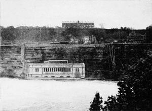 Ontario power station below the falls, 1908. Public domain image.
