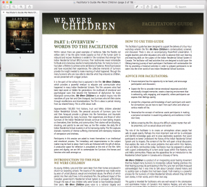 Screenshot of facilitator's guide taken by author.