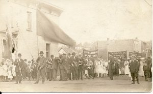 Labour demonstration in Port Arthur, 1914