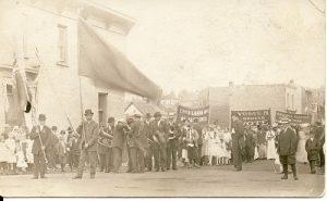 Labour demonstration in Port Arthur, 1914