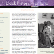 Screenshot of black history exhibit