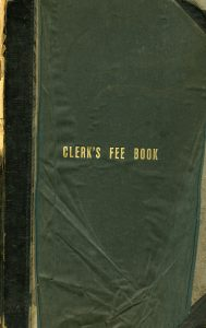 Cover of Clerk's Fee Book