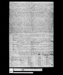 Page of historical text from the Huron-Robinson treaty