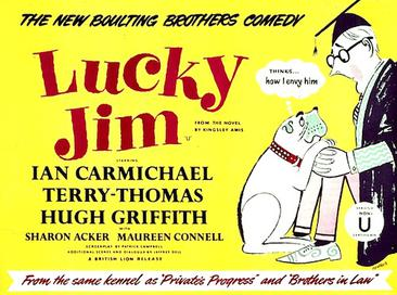 Film poster for Lucky Jim, 1957.