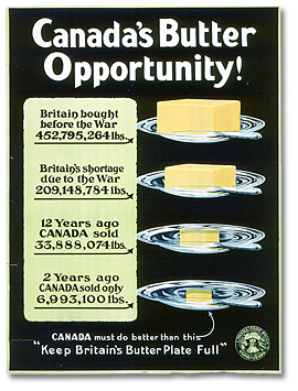 Wartime poster about butter