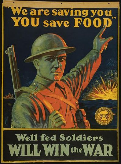 Wartime food poster