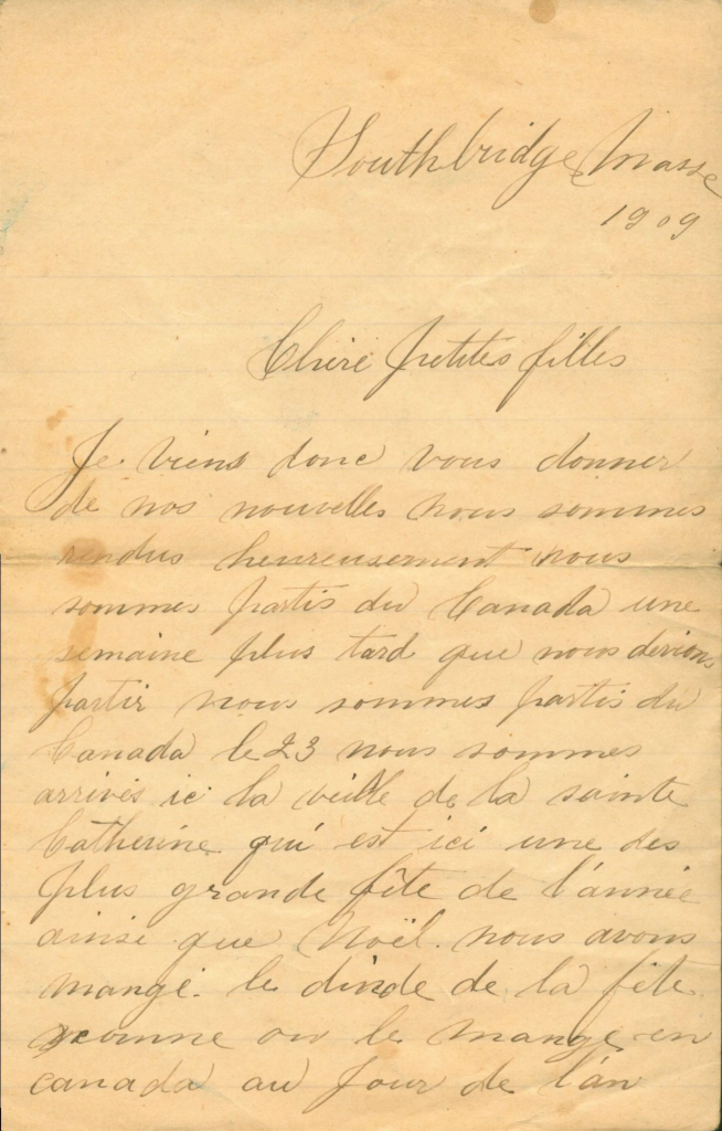 Full page handwritten letter